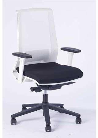 Chaise De Bureau Dactylo Ergo Compact Top Office Blanc Noir