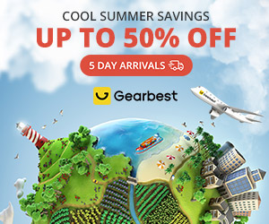 Gearbest 5 Days Arrival + Up to 50% OFF promotion