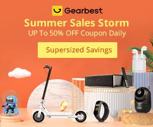 Gearbest Até 50% de desconto no cupão diariamente : Tempestade de vendas de verão promotion