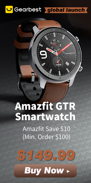Gearbest Amazfit GTR Smart Watch Only $139.99! promotion