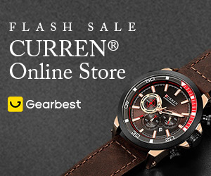 Gearbest Curren Watch Online Sales: Deals Under $20 promotion