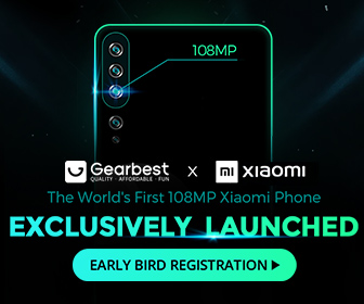 Gearbest Global Launch:XiaoMi Note10 promotion