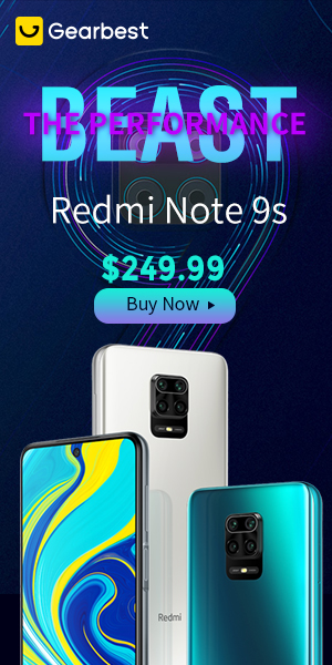 Gearbest Newest Xiaomi Redmi Note 9S promotion