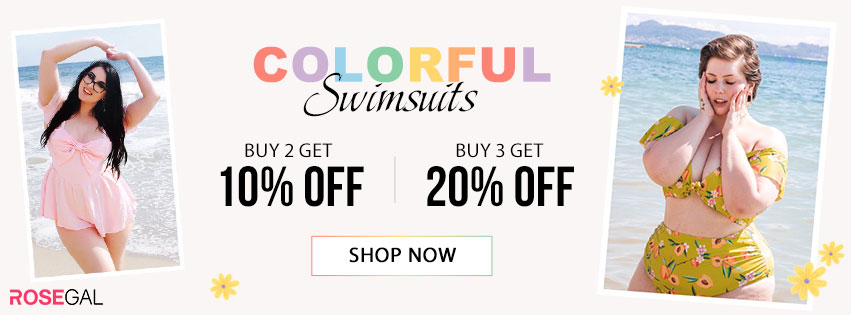 Colorful Swimwears--Buy 2 Get 10% Off,Buy 3 Get 20% Off promotion