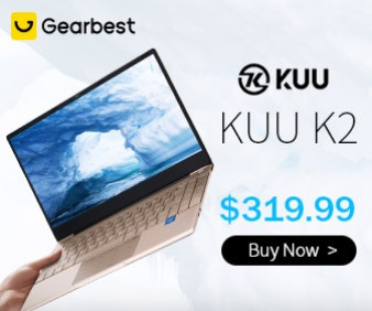 Gearbest KUU K2 Intel Celeron J4115 Processor 14.1-inch IPS Screen All Metal Shell Office Notebook 8GB RAM Windows 10 256GB/512GB SSD promotion