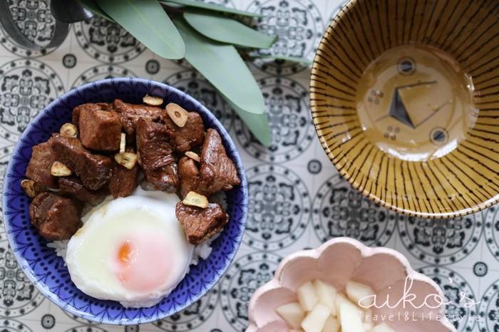 【中式料理】超快速奶油骰子牛丼飯,美味到要把舌頭也吞下的一人料理。