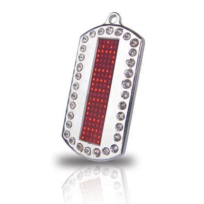 Dog Tag, LED Scrolling Name Badge Necklace (China (Mainland))