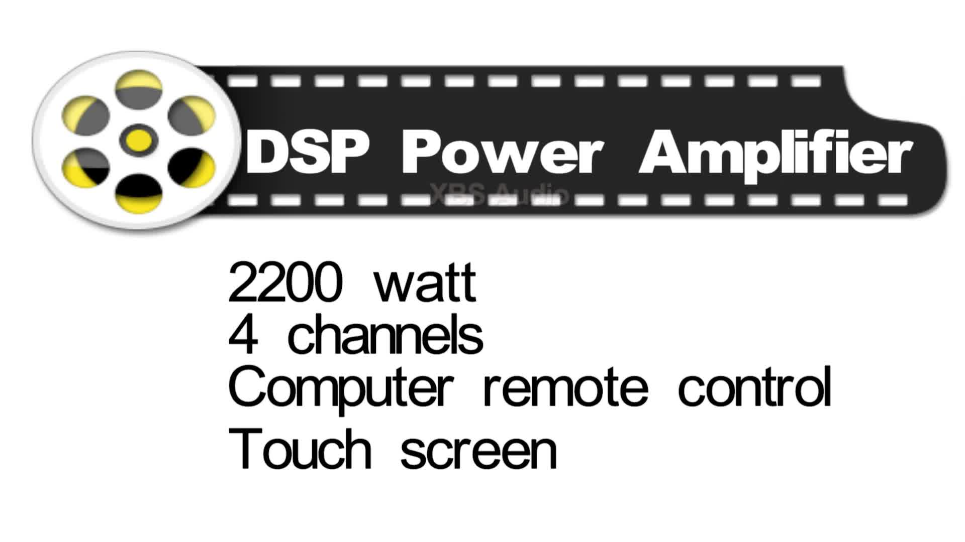 W X 4 Channels Dsp Pro Stereo Power Amp