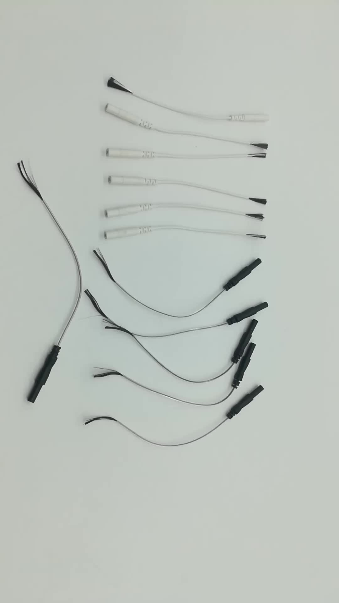 Custom Medical Tens Unit Electrodes Leads Wire Cable With