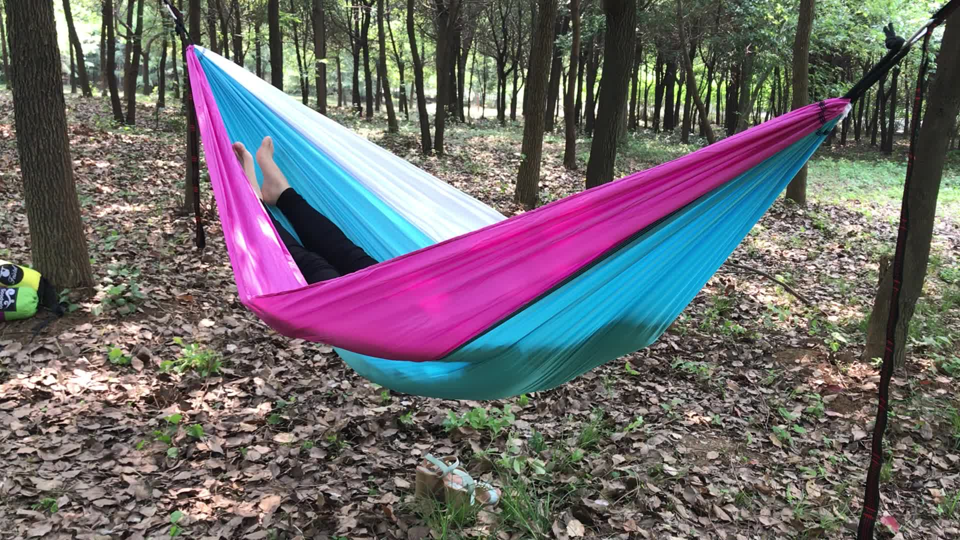 Camping Products Parachute Nylon Fabric Hammock With