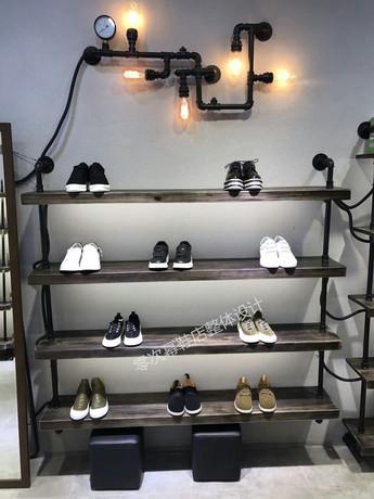 retro shoe store shoe rack display rack