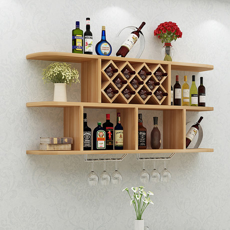 simple and creative wine cabinet round