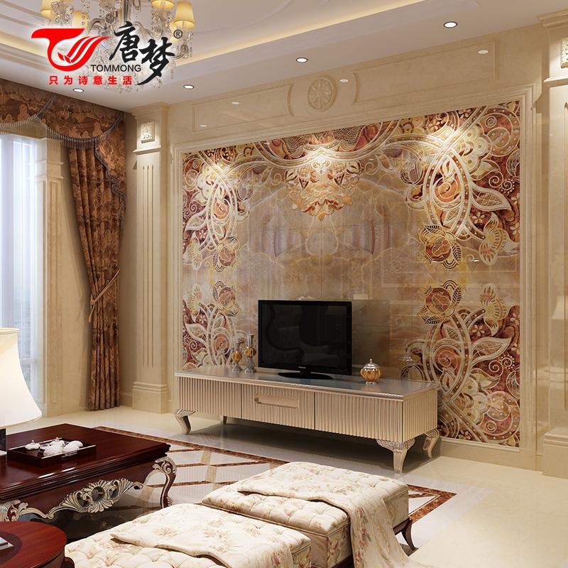 tv backdrop ceramic tile art