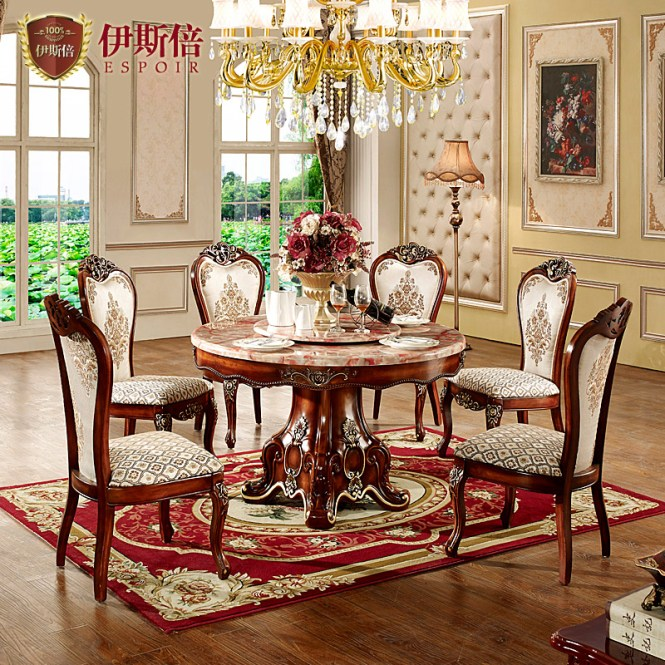 Lavis Marble Round Table Dinette Combination Of Modern