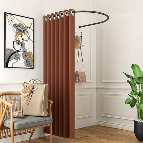 customized u shaped fitting rod curtain