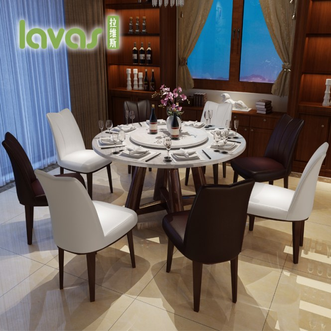 Lavis Marble Round Table Dinette Combination Of Modern Minimalist Apartment Size Dining And Chairs
