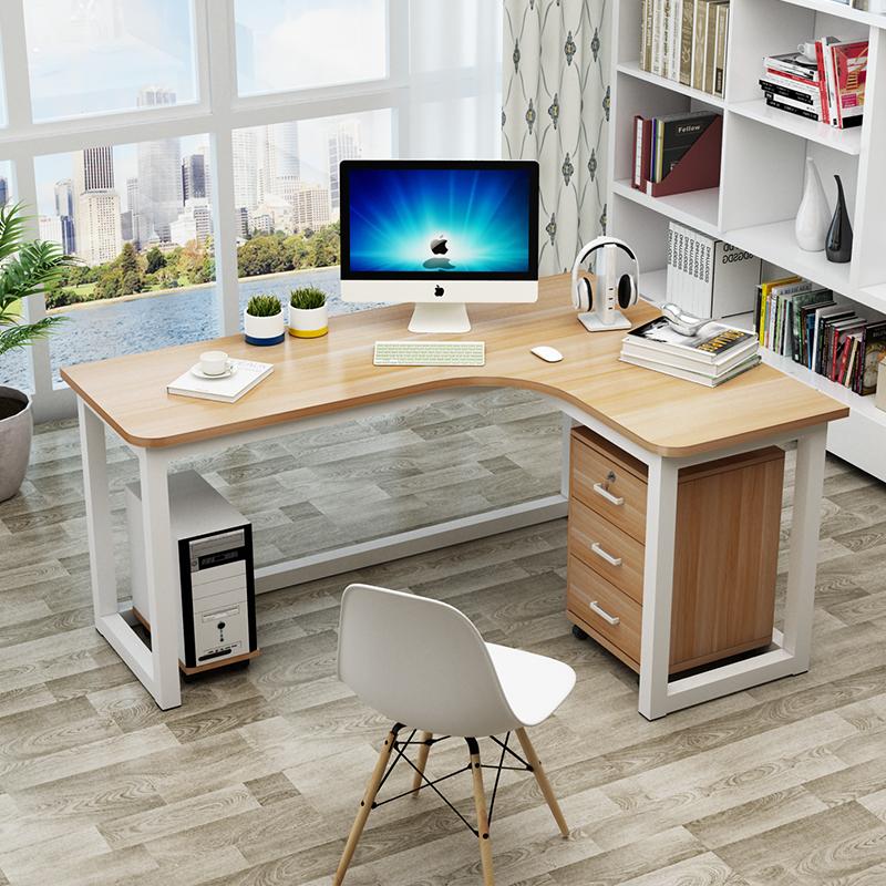 包郵簡約現代鋼木轉角桌牆角桌家用臺式電腦桌拐角辦公桌L型書桌 - 淘寶天貓 - LINE購物