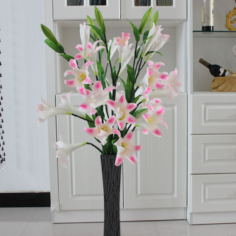 Buy European Simulation Lily With Tulip Flowers Artificial Flowers Suit Home Living Room Floor Flower Vase With Fake Silk Flower Decoration In Cheap Price On M Alibaba Com