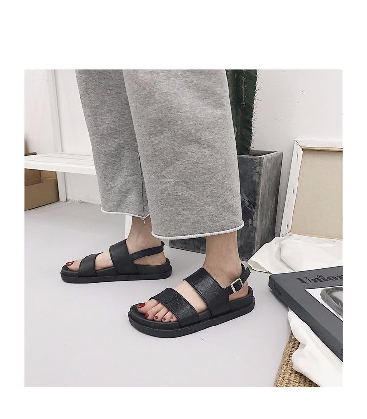 TB2sKTNtHuWBuNjSszgXXb8jVXa !!1102525876 Mazefeng 2018 New Fshion Summer Women Shoes Rome Style Women Casual Sandals Solid Black Buckle Ladies Sandals Vintage Flats