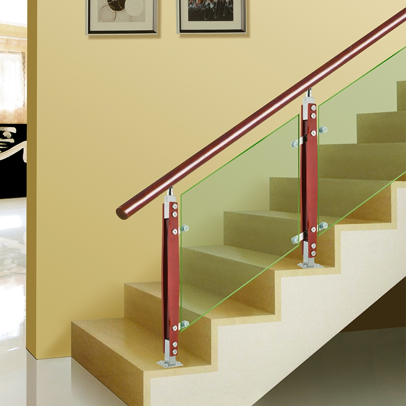Usd 22 05 Stair Handrail Glass Stainless Steel Stair Column Villa   Stair Railing Wood And Steel   Stair Inside   Baluster   Tall Stair   Indoor Stair   Solid Wood