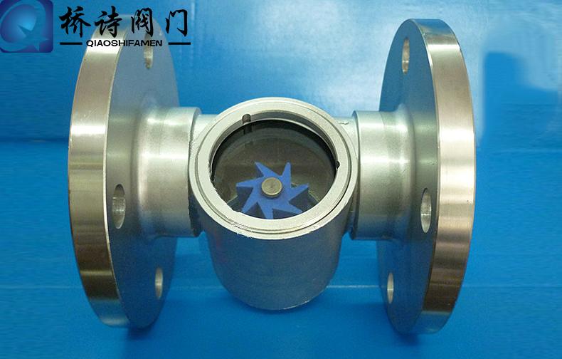 法蘭葉輪視鏡 不鏽鋼葉輪水水流指示器 鑄鋼水流顯示器 DN50 4寸
