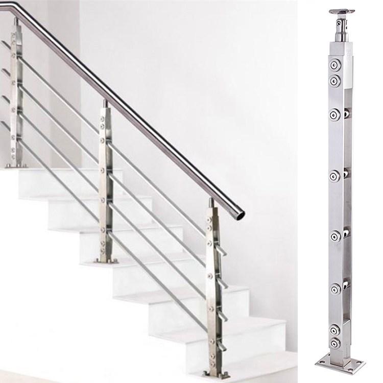 Usd 6 52 Stair Handrail 304 Stainless Steel Column Lasied Pvc   Modern Stainless Steel Staircase Railing   Glass   Rectangle   Elegant   Modern Farmhouse   Hand