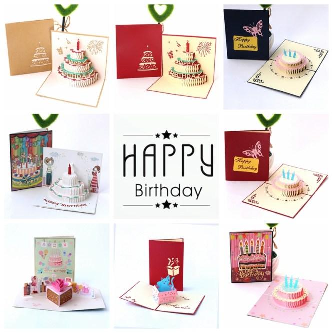 Handmade Three Dimensional Birthday Gift Greeting Card Baby Full Moon Invitation Custom Wish