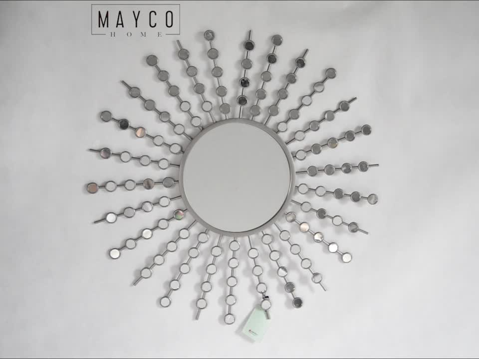 Mayco Handmade Antique Decorative Round Sunburst Metal