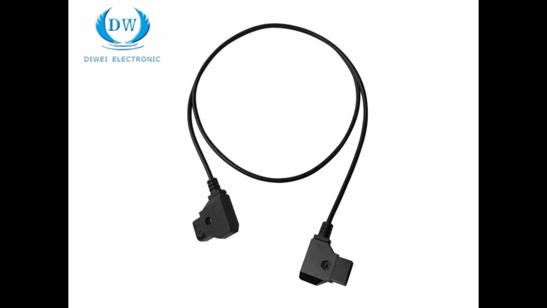 D Tap To Right Angle Dc Connector Camera Power Cable Fgg