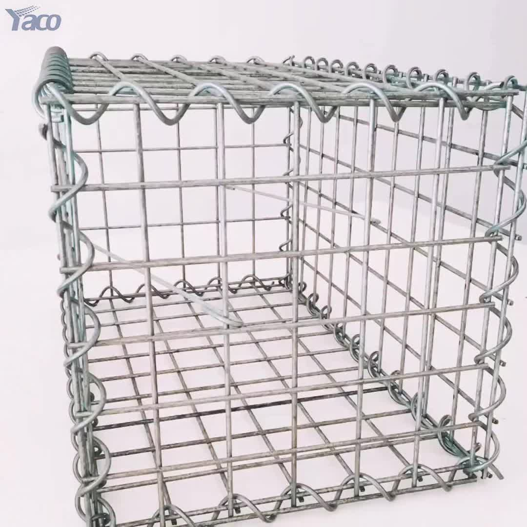 Hot Dipped Galvanized Welded Mesh Gabions Cage Basket From