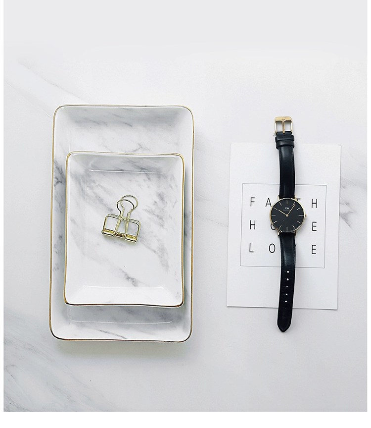 marble tray holding clip and watch