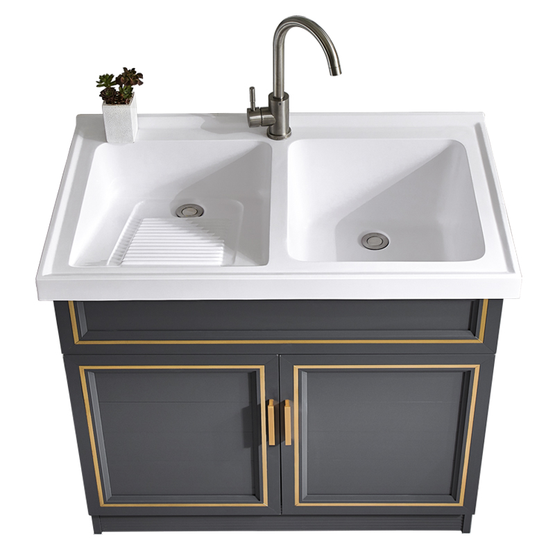 piece cabinet floor washing pool