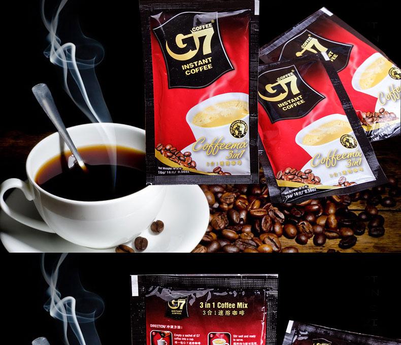 G7 COFFEE 越南原裝進口中原g7咖啡800g正品三合一速溶咖啡評價: