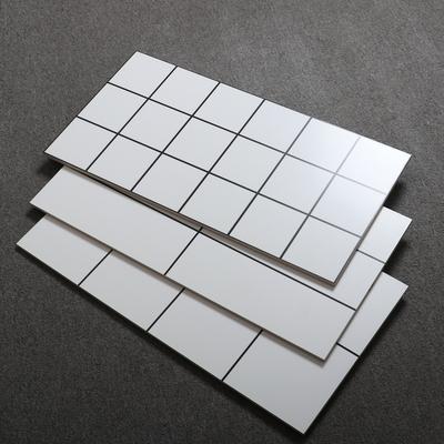 北歐瓷磚啞光白色黑線格子麵包磚廚房壁磚300x600化妝室陽臺瓷片