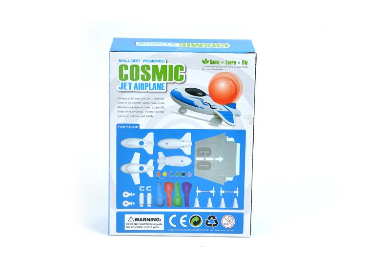 氣球動力宇宙噴射飛機 新Sunny遊戲教育實驗 科技小製作DIY拼裝