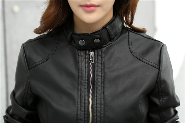 T2rLUBXqpaXXXXXXXX %21%21742603855 2018 Fashion New Women's Jacket European Fashion Leather Jacket Pimkie Cleaning Single PU Leather Motorcycle Temale Women's Leat