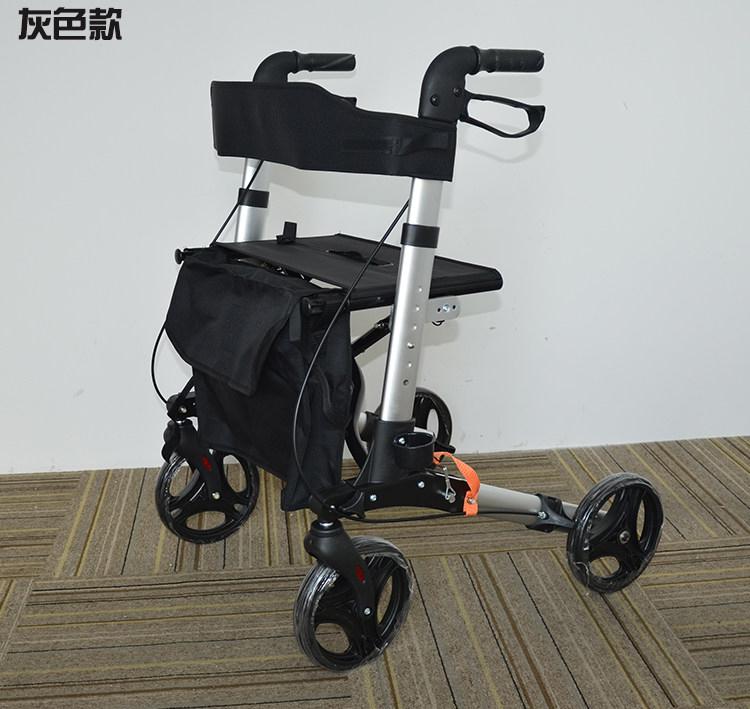 老人手推車電動腳踏車帶坐老年購物車助行車輔助行走學步車摺疊成人滑板車