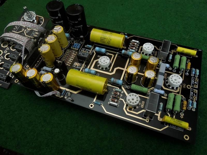 Famous Circuit 12au7 12ax7 Tube Preamplifier Kit Diy