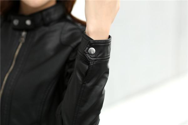 T2XmMCXzhXXXXXXXXX %21%21742603855 2018 Fashion New Women's Jacket European Fashion Leather Jacket Pimkie Cleaning Single PU Leather Motorcycle Temale Women's Leat