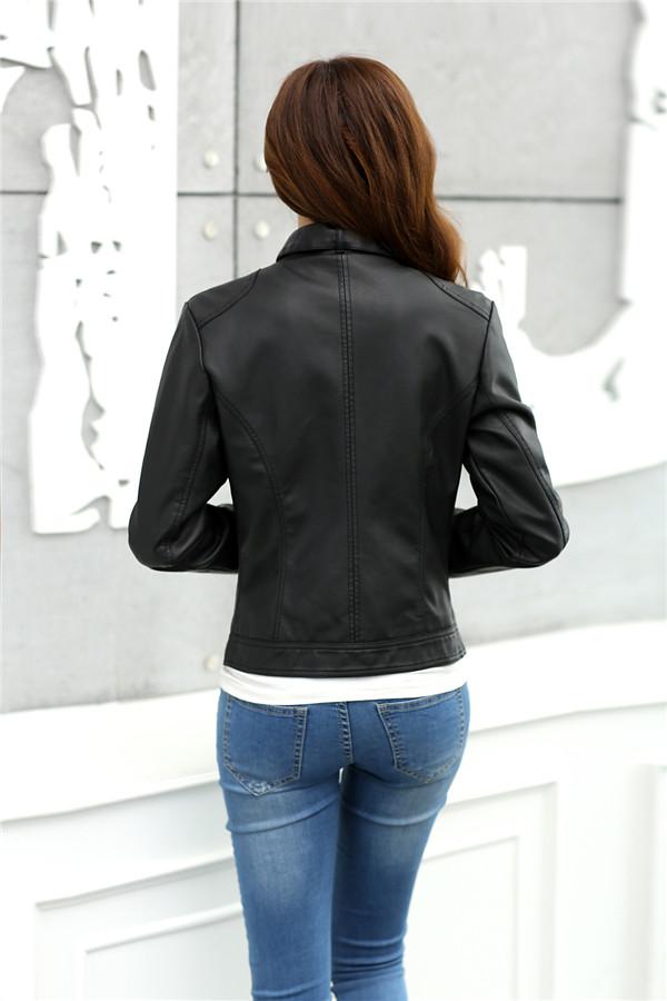 T2cEwzXwXaXXXXXXXX %21%21742603855 2018 Fashion New Women's Jacket European Fashion Leather Jacket Pimkie Cleaning Single PU Leather Motorcycle Temale Women's Leat