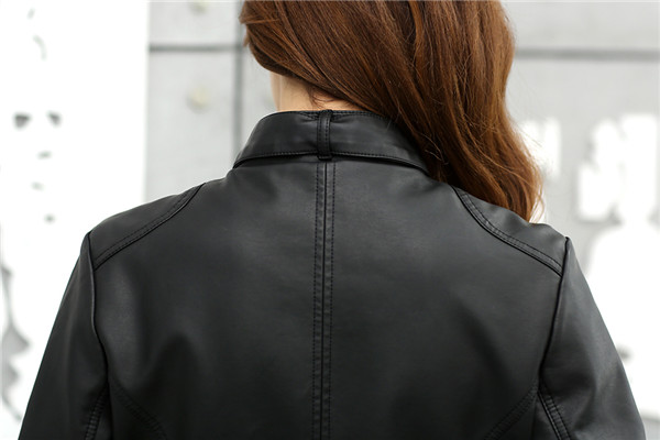 T2pIMEXsFXXXXXXXXX %21%21742603855 2018 Fashion New Women's Jacket European Fashion Leather Jacket Pimkie Cleaning Single PU Leather Motorcycle Temale Women's Leat