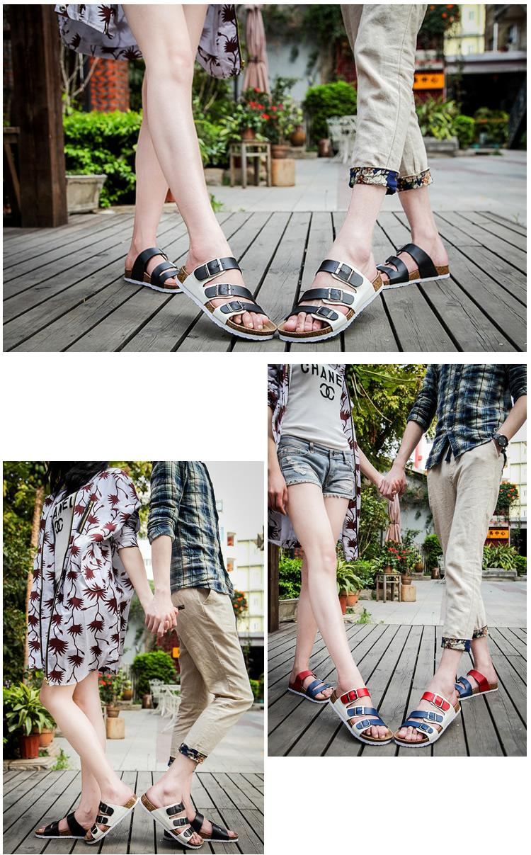 TB2t5WvcXXXXXXdXXXXXXXXXXXX !!1067431271 Big Size 12 35-45 Unisex Brand Couples Cork Flipflops Summer Clip Toe Platform Beach Slippers Buckle Belt Casual Women Sandals