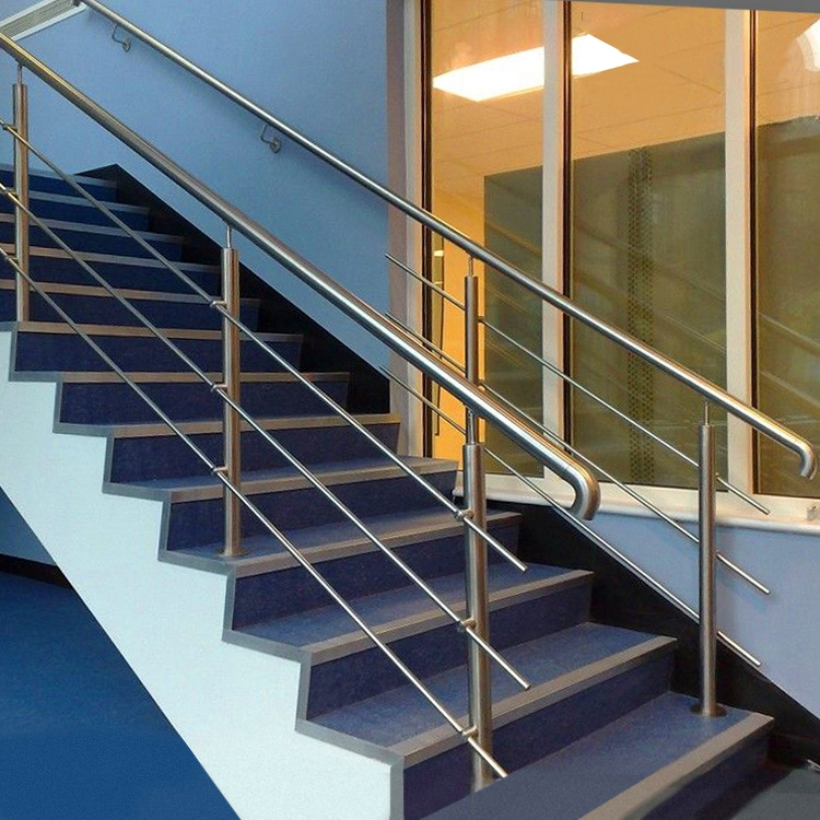 Usd 23 35 Stair Handrail Glass Guardrail Through The Razed Column   Steel Hand Railing For Stairs   Rustic   Exterior   Backyard   Low Cost   Decorative