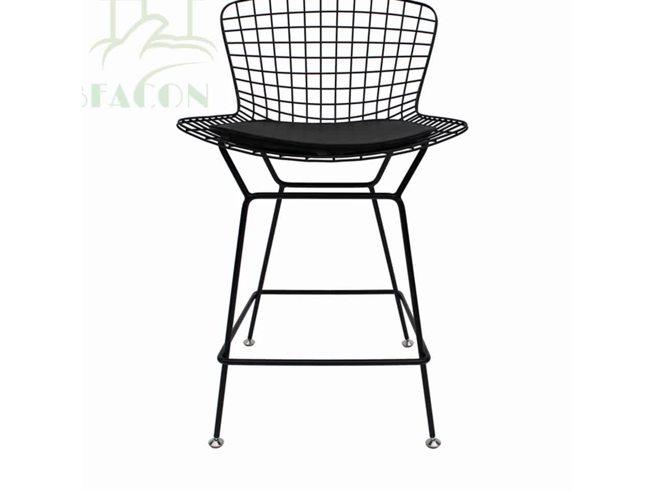 Powder Coated Metal Wire Bar Stool