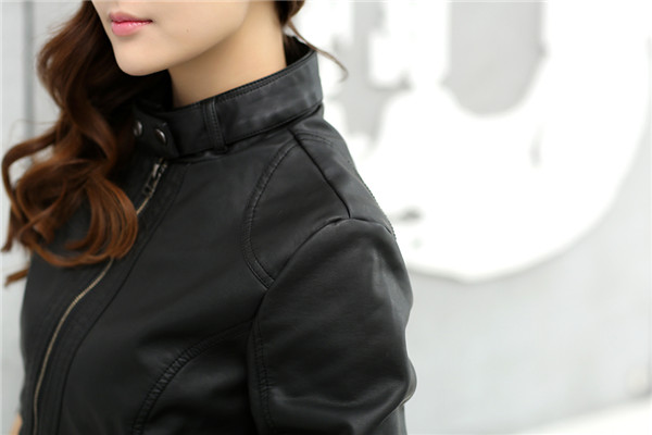 2018 Fashion New Women's Jacket European Fashion Leather Jacket Pimkie Cleaning Single PU Leather Motorcycle Temale Women's Leat