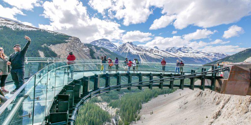 加拿大・落磯山脈 Glacier Skywalk 天空步道・不一樣的角度看世界