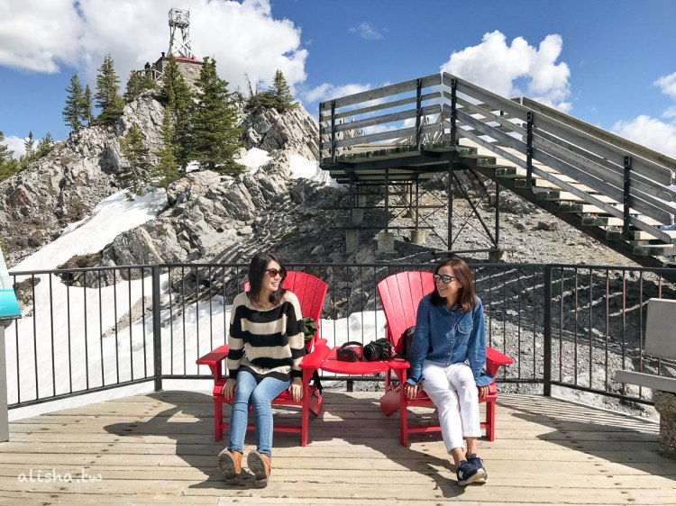 加拿大・硫磺山 Banff Gondola 班夫纜車・尋找紅椅子遊戲
