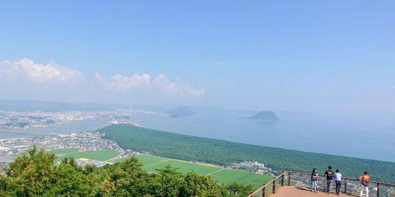 佐賀・唐津 鏡山展望台,俯瞰綿延五公里的虹之松原&唐津灣