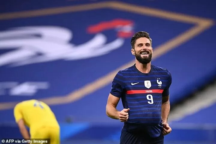 The international strikers chasing history as Olivier Giroud becomes France's second highest scorer 1