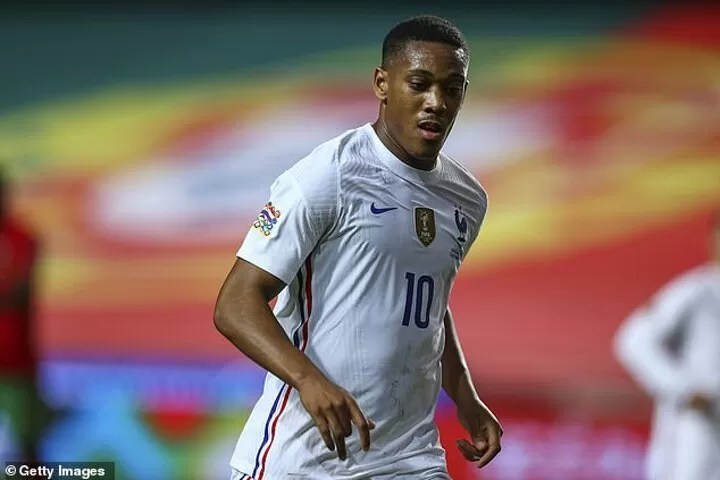 Martial out of France squad due to a back strain 2